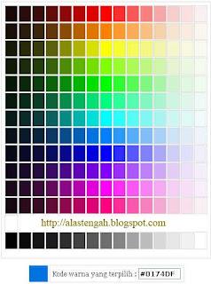 Cara membuat atau menampilkan kode warna di halaman blog blogspot atau website