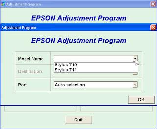 Perawatan Printer Dengan Resiter Epson T10
