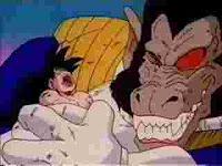 Vegeta+crushes+Goku