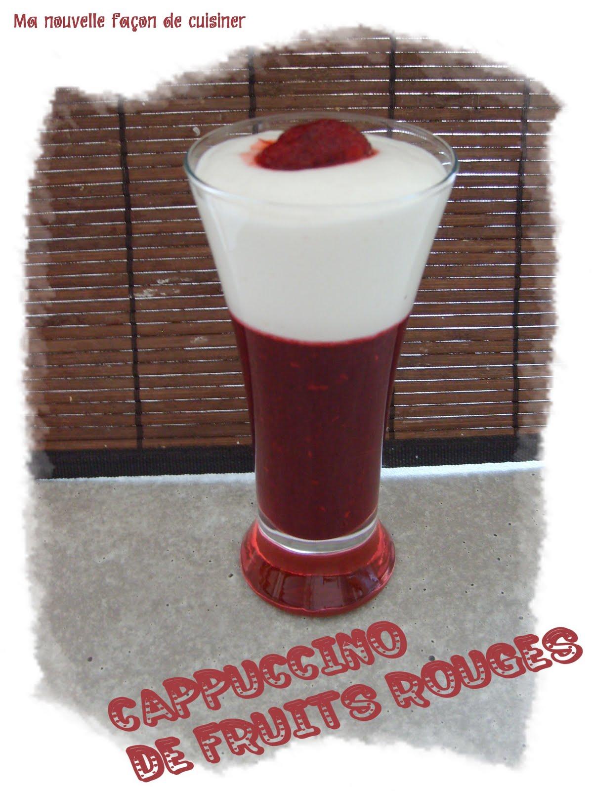 Ma nouvelle fa on de cuisiner cappucino de fruits rouges 1 pt flexipoint ou 1 pp - Cuisiner des betteraves rouges ...