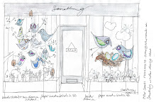 sketch for somehting spring window