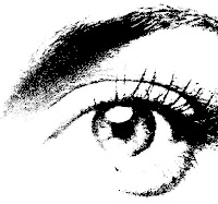 Black and white photo of an eye.