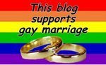 This blog supports gay marriage