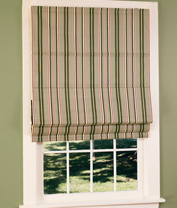 Striped venetian blinds