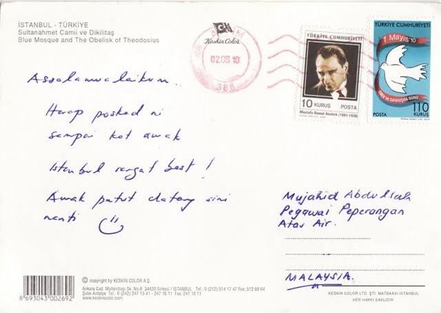 this postcard jika diri ini diberi peluang untuk memilih negara untuk