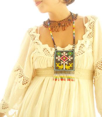 Vintage Romantic Mexico ethnic wedding crochet maxi dress