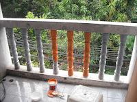 ก่อนทาสีช่องระเบียงทองประชาคอนโด