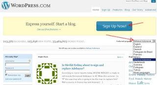 tutorial wordpress, daftaR wordpress, wordpress.com, modif wordpress