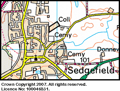 Map of the Sedgefield area