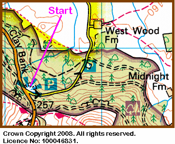 Map of Clay Bank Car Park
