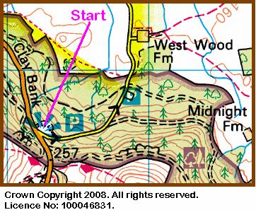 Map of Clay Bank Car Park