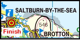 Map of the Saltburn area