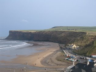 Looking down the coast from Saltburn