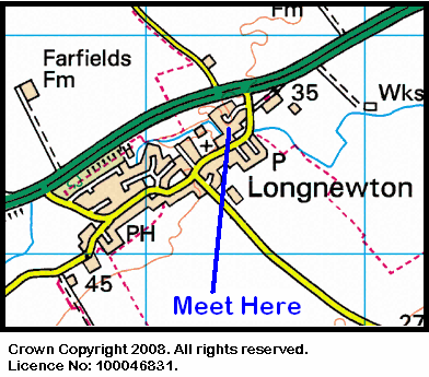 Map of the Longnewton area