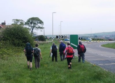 Setting off from the A171 near Whitby