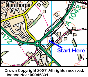Map of the Nunthorpe Church area.