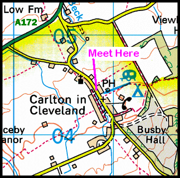 Map of the Carlton-in-Cleveland area