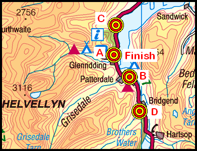 Map of the Patterdale area
