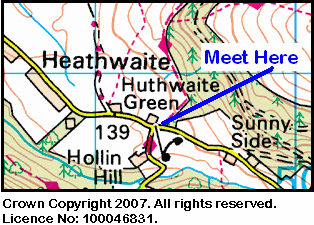 Map of Huthwaite Green area