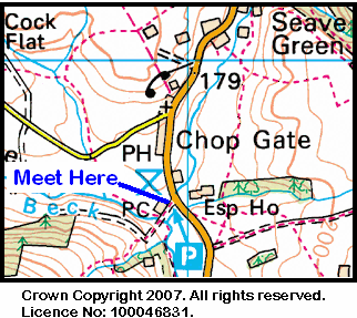 Map of the Chop Gate car park area
