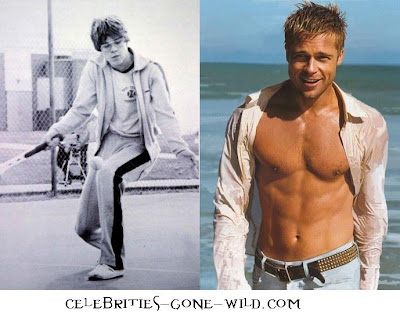 Brad Pitt wasn't always the sexiest man alive, or he's just fully dressed on