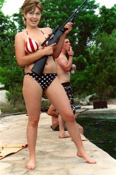 Sarah Palin Bikini Photo. sarah palin bikini gun. sarah