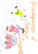 Dibujos de chic@s en Yaulillas, Los Aquijes en ICA no al trabajo infantil