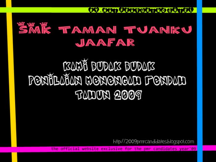smk taman tuanku jaafar, seremban '09 pmr candidates :)