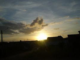 o Sol se pondo em Igarassu