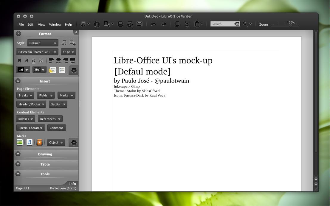 Значки главной панели в ubuntu 1110