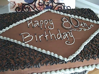 One Sweet Treat 80th Birthday Cake