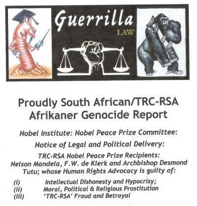 Proudly South African/TRC-RSA Afrikaner Genocide Report; includes: Censorbug Bear Blog Reports: (i) Alphabetical Listing of Farm Murderz: A – Z; (ii) 2008 Farm Murders in South Africa: Brief Summaries; and (iii) Genocide Watch 2002 Report on Boer Farm Murders. (PDF:200KB)