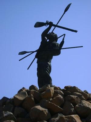 Vegkop Monument, at 1836 Vegkop Battleground, Heilbron Sept 27 2009