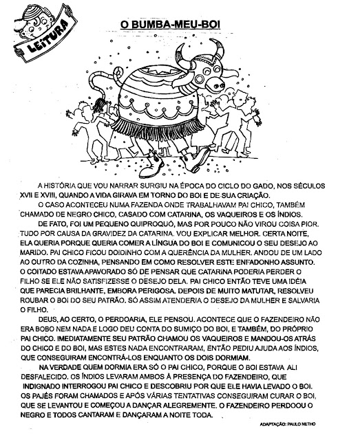 AtividadesLendaseFabulas+(88) BUMBA MEU BOI para crianças