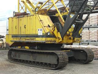 1 719259 DRAGLINA seocn hand de vanzare dragline pentru incarcare dragina sh utilaje incarcat cupa greifer draglina Weser COTTAGE W 120 40t 157CP