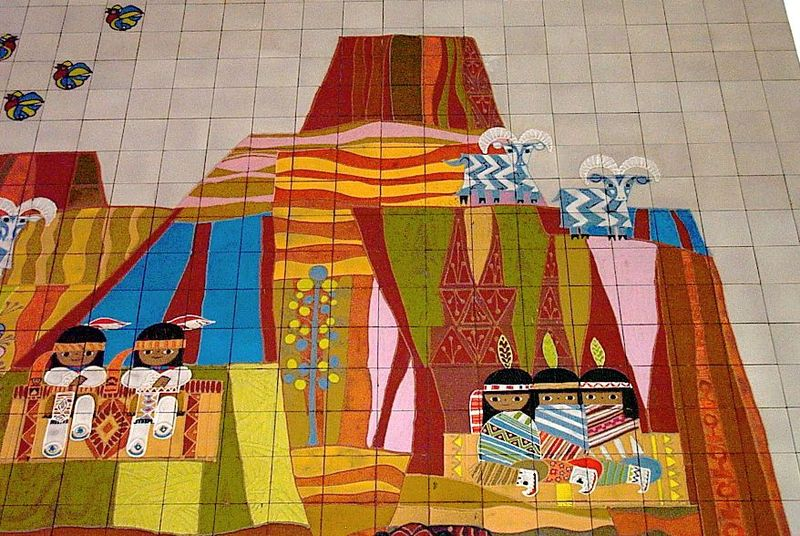 Chicpaint happy shiny place mary blair and the art of for Disney world mural