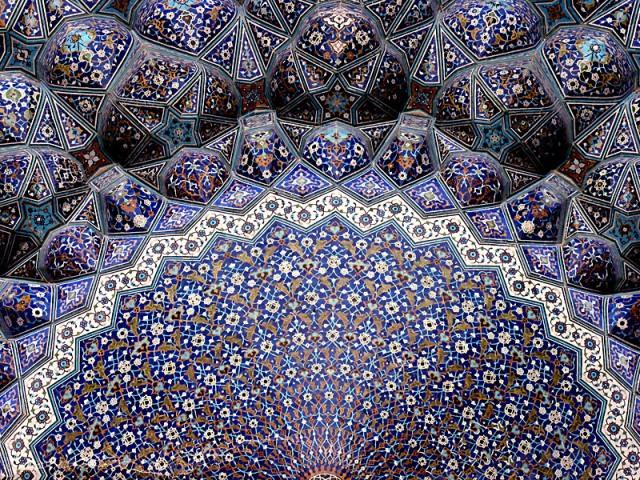 Iran Mosque Mosaic Pattern HD wallpaper (640 x 480 )