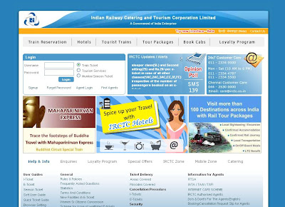 Online Train reservation - irctc tatkal - irctc availability - IRCTC Login Page