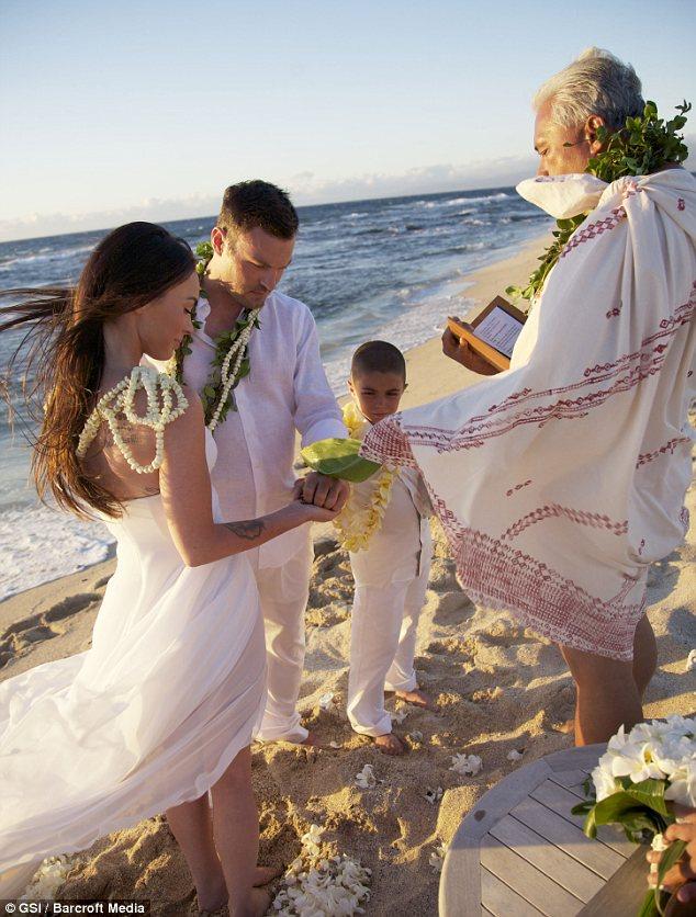 Megan Fox bridal dress photos