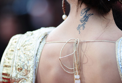 deepika tattoo-Celebrity Tattoo