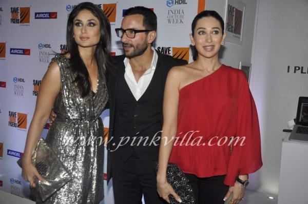 Photo shoot of Kareena Kapoor, Saif Ali Khan and Karishma Kapoor @ HDIL Day 2