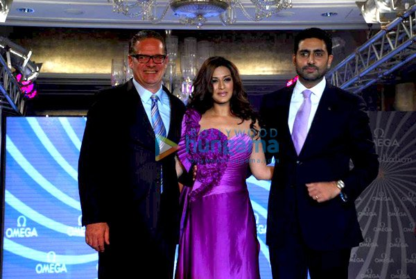 Abhishek and Sonali Bendre at Omega Constellation Watches Fashion Show