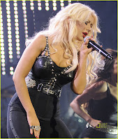 Christina Aguilera Sings Out at The Justin Timberlake & Friends Concert