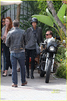 Halle Berry and Olivier Martinez Motorcycle To Brunch