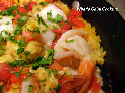 Shrimp and Scallop Paella - What's Gaby Cooking