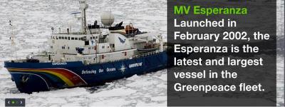 Grenpeace Ships Esperanza