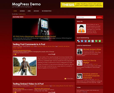 red wordpress theme