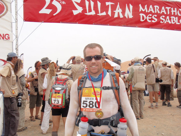 At the MDS Finish line after 250km