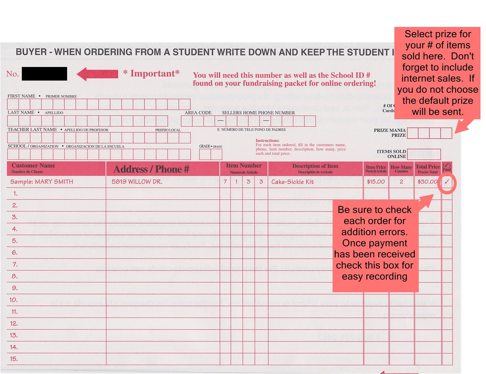 fundraiser order form template – Fundraising Forms Templates Free