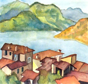Hermann Hesse, bela aquarela